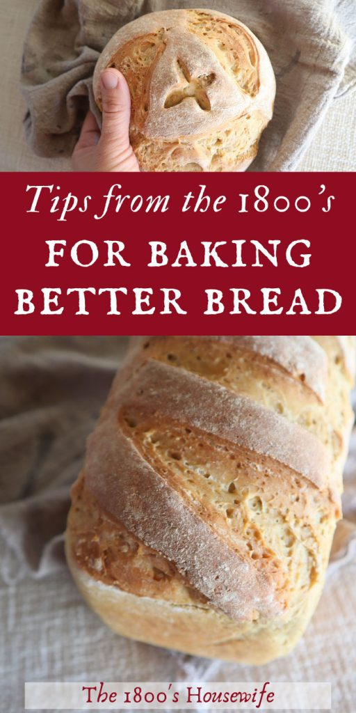 bread making methods from the 1800s
