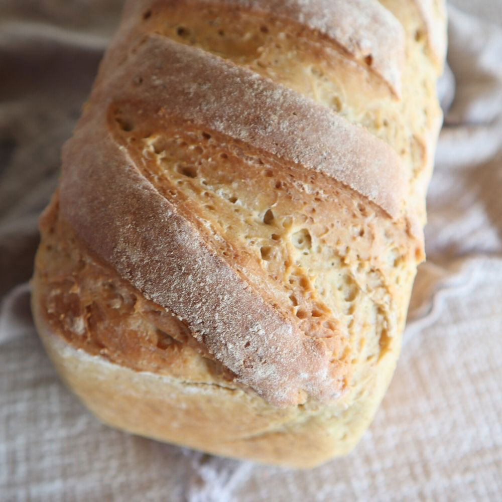 sourdough loaf baked with 1800s bread making tips
